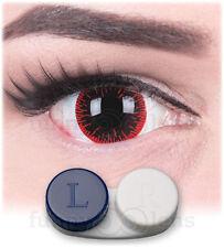 "Mini Sclera Lenses ""Hangman"" 17mm + Case black contact sclera lenses Halloween"