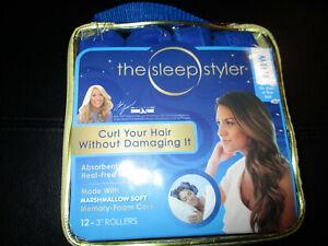 "The Sleep Styler Nightime Hair Curlers 12 Mini 3"" Rollers For Short or Fine Hair"
