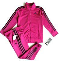 Adidas Girls' Tricot Zip Jacket and Pant Set Size: 6X