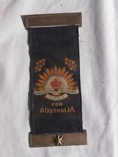 Australian WW1 Mothers & Widows ribbon. Original 40/Bn. DOW 1916. Tasmanian. AIF