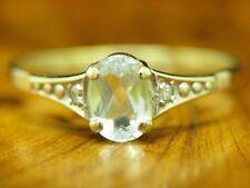 8kt 333 Gelbgold Ring mit Diamant und 0,64ct Bergkristall Besatz / RG 55 / 1,0g
