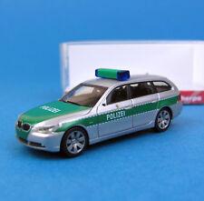 Herpa H0 046558 BMW 5er Touring Polizei Berlin Silber Grün OVP HO 1:87 Box