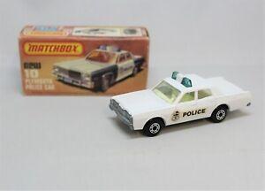 "Matchbox Lesney Superfast No10/55 MERCURY POLICE CAR in "" CLEAR GLASS "" MIB"