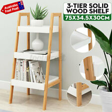 3 Layers Solid Wood Shelf Display Stand Rack Organiser Book Potted Plant Storage