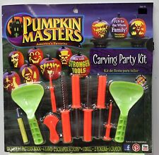 26PC PUMPKIN CARVING PARTY KIT Halloween Masters Tools Patterns Set PM14-094 NEW