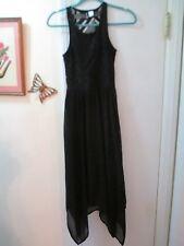 Divided  -  Black Sleeveless Asymmetrical Hemline Polyester Dress  -  Size 2