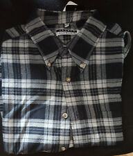 Angelo Litrico Herren Freizeithemd XL Hemd grau blau weiß kariert