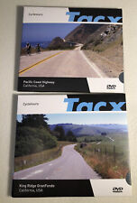 Tacx Real Life Video Cycle Tours DVDs x 2 California Pacific Coast King Ridge