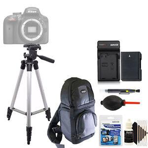 "50"" Tripod Backpack Pro Traveler w/ Battery + Charger / Nikon D3500 D3400 D5600"