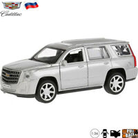 1:36 Scale Diecast Metal Model Car Cadillac Escalade Silver Colored Die-cast Toy
