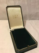 Antique Style Dark Green Leatherette Luxury Jewellery Necklace Box New