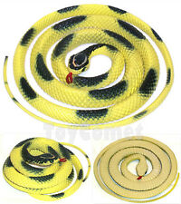 115cm Yellow Black Fake Rubber Snake Realistic Reptile Animal Figure Toy Prop