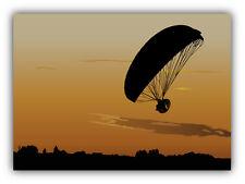 Paraglide Paramotor Silhouette Car Bumper Sticker Decal 5'' x 4''