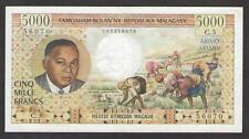 MADAGASCAR   5000 FRANCS  ND 1966 -  P.60  Circulated (aXf)