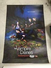 THE VAMPIRE DIARIES TVD Poster PAUL WESLEY CW Ian Somerhalder NINA DOBREV Rare!
