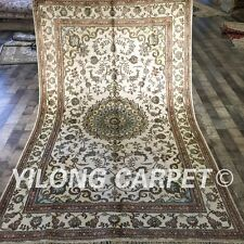 YILONG 5'x8' Handwoven Silk Carpet Family Room Oriental Indoor Rug ZW189C