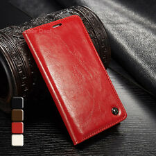 HTC One A9 Faux Leather Cellphone Pouch Flip Case Case Pouch Accessories Red