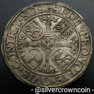 SCC Brandenburg Franconia Taler 1550 Albrecht ll Thaler Silver Crown Dollar coin