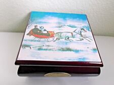 Mr. Christmas Winter Treasures Musical Jewelry Box Plays Winter Wonderland