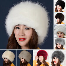 Fashion Ladies Womens Glamorous Faux Fur Russian Cossack Hat Winter Warm  Cap BKB 2cd517036634