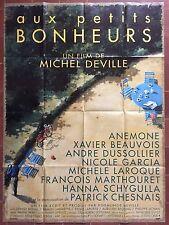 Affiche AUX PETITS BONHEURS Michel Deville ANEMONE Xavier Beauvois 120x160cm