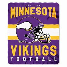 "Minnesota Vikings NFL Northwest 50""x60"" Singular soft Fleece Throw Blanket FREE"