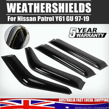 4x  Weather Shield Weathershields Window Visor for Nissan Patrol Y61 GU 97-19
