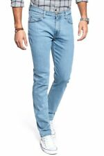 LEE SLIM RIDER TAPERED DENIM JEANS - LIGHT STONE WASH W32 L32 RRP £100