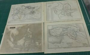 FOUR LOOSE MAPS EAST INDIA ISLANDS WESTERN ASIA ANCIENT ROME ROME  27ms by 22cms