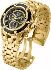 90112 Invicta Men 52mm Subaqua Quartz Stainless Steel Gold Plated Bracelet Watch