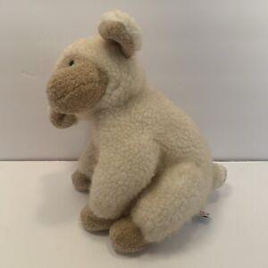 "Mary Meyer Little Lamb Plush Stuffed Animal Toy 1995 13"" Tall Tan & Ivory NICE!"