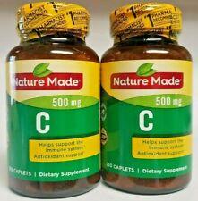 2 Pk Nature Made Vitamin C 500mg Immune Support Supplement 250 Caplets Exp 2022+