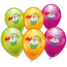 Ballons, mit wunderschönen CupCake Motiv, 6er Pack, ca. Ø 30cm