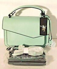 Botkier Cobble Hill Aqua Mint Leather Crossbody Shoulder Bag Purse $198 NWT