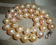 Natural 10-11mm Pink Fresh Water Pearl Necklace 18inch AA