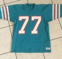 Vintage 90s MIAMI DOLPHINS STANLEY SCOTT SAND KNIT FOOTBALL JERSEY SIZE Medium
