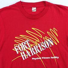 Vtg Screen Stars Fort Harrison T-Shirt sz M Paper Thin Physical Fitness USA Made