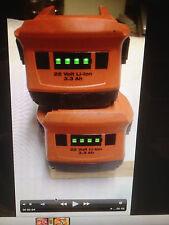 2 batteries hilti B22 en TRES BON état