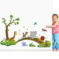 Cartoon Animal Wall Stickers For Kids Room Decor DIY Art Decal Removable Sticker