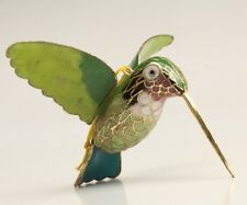 Cloisonne Hand-Carved Hummingbird Statue Pendant Gift Good Luck Collection Gift
