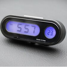 Multifunctional Small Digital LCD Display Blue Backlight Car Clock Thermometer A