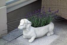 Blumenkübel Pflanz Kübel Dekoration Figur Blumentöpfe Garten Vasen Hund S103113