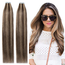 Undetectable Tape In THICK Remy Human Hair Extensions Full Head Mix Color P784