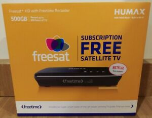Humax HDR-1100S 500GB Freesat Receiver with HD TV Recorder - Black