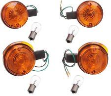 für Simson S51 Blinker mit Birnen 12V Blinkerkappe Orange Gelb SR50 MZ ETZ Satz