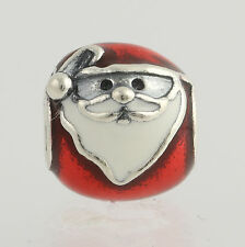 New Pandora Bead Charm Sterling Silver 7914045ENMX Jolly Santa Christmas Enamel