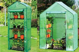 UK 4Tier/Walk in Greenhouse Outdoor Garden Plants Grow Metal Frame with PE Cover