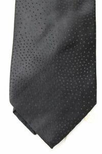 """Italo Ferretti Mens Silk Tie Black pin dots Necktie 60"""" x 3 3/4"""""""