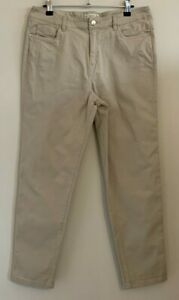 F&F Size 12 Ladies Casual Beige Trousers