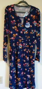 NWT JoJo Maman Bebe Floral Keyhole Pleat Maternity/Nursing Dress Women's L/12-14